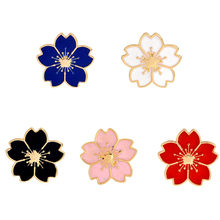 5 Warna Romantis Enamel Cherry Bunga Bros Pin Bros Syal Gesper Tas Kemeja Coaplay Perhiasan(China)