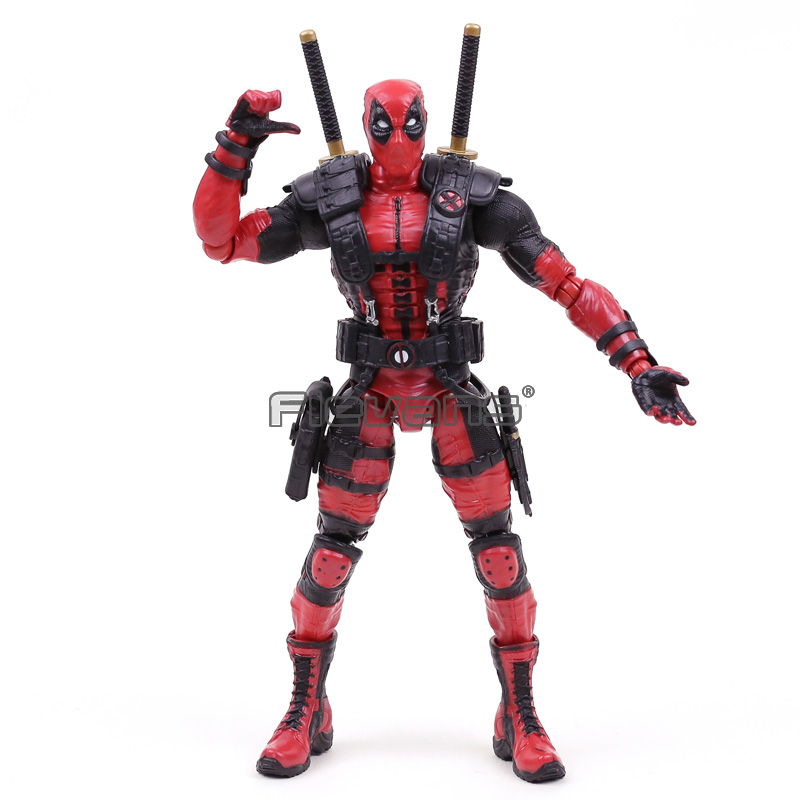Marvel Super Hero Deadpool PVC Action Figure Collectible Model Toy 26cm 26cm crazy toys 16th super hero wolverine pvc action figure collectible model toy christmas gift halloween gift