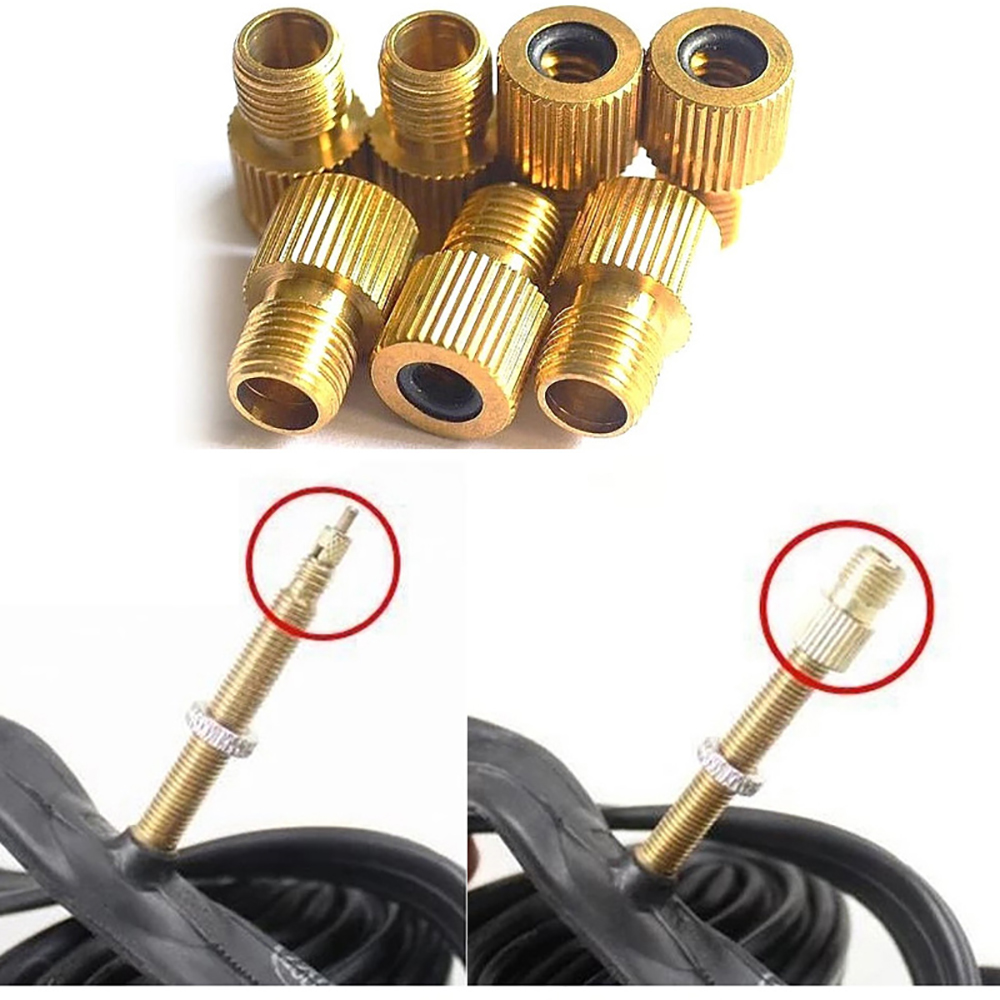 Presta To Schrader Air Pump Bicycle Bike Valve Type Adaptor Converter Adapter