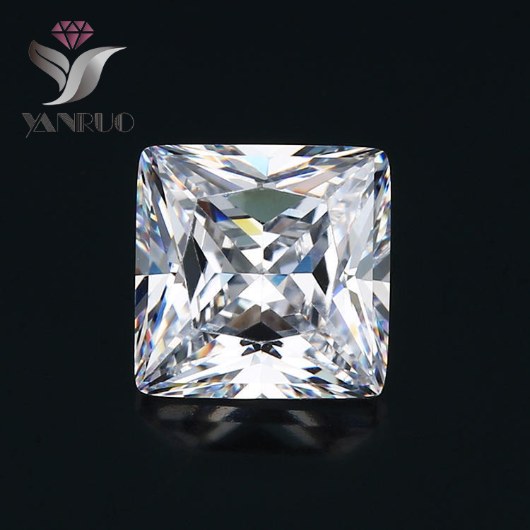 YanRuo #4447 100pcs 9mm unfoiled Square diy nail art Crystal nail art crystal top quality nail Rhinestone Zircon diamond