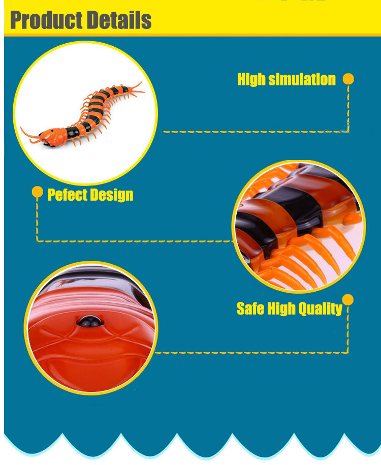 Dog Toy Electric RC Centipede Fake Insect Remote Control Centipede Creative Electric Tricky Funny Cat Toy For Cat 9