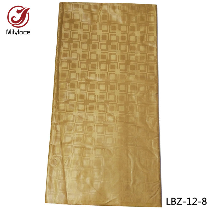 Newest arrival textile cotton fabric 10 yards african /nigerian fabric golden party/wedding dress bazin fabric LBZ-12