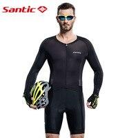 Santic Для мужчин футболка велосипедный трикотаж Велоспорт Pro Fit гонки итальянский 4D мягкий дышащий UV400 M6C03010H