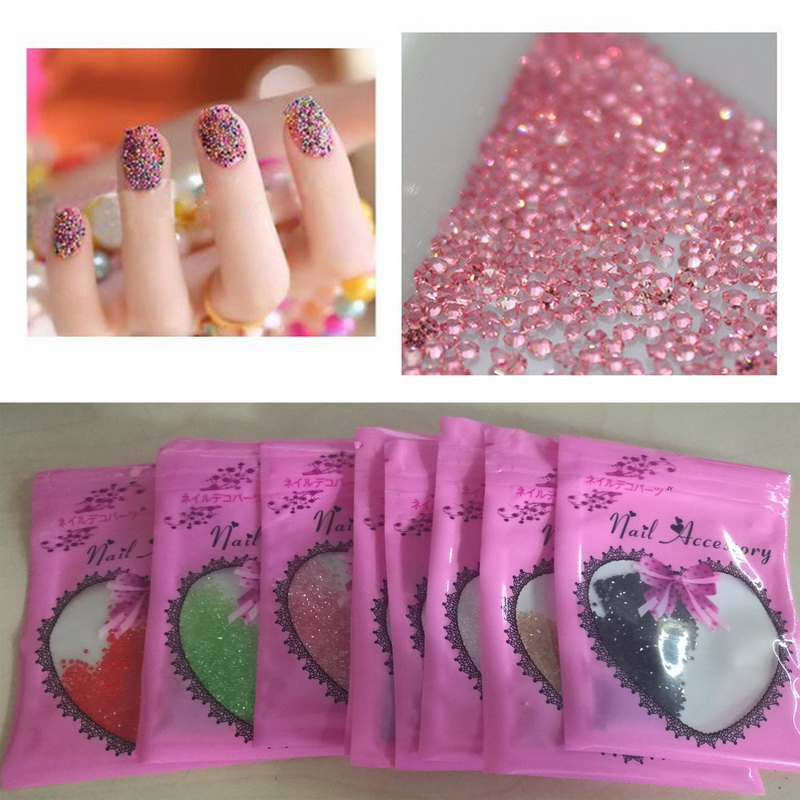 Tiny Mini Crystal Pixie Micro 1.1-1.3mm Mini Nail Arts Rhinestones - Արվեստ, արհեստ և կարի - Լուսանկար 2