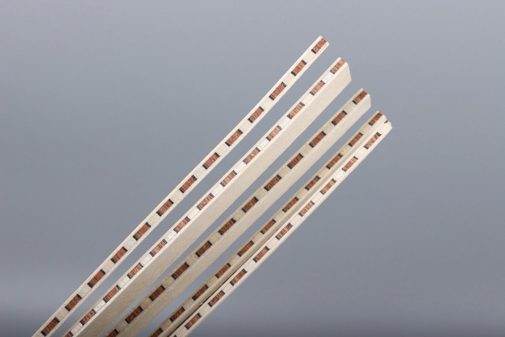 new 20 strip LUTHIER PURFLING BINDING MARQUETRY INLAY 640x4x1.0mm #152 new luthier tool electric violin purfling groove cutter q1
