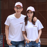 Love Couple Short Sleeve Brand New Fashion Cotton T Shirt Clothes For Male Female TB Style