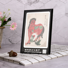 Chinese folk art style decoration crafts indoor living room drawing table handmade shadow puppet frame figurines miniatua