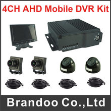 4CH Car DVR Kit Mobile DVR Kit 1080P Fleet Vehicle DVR Kit Support HDMI Output For Truck Taxi Bus