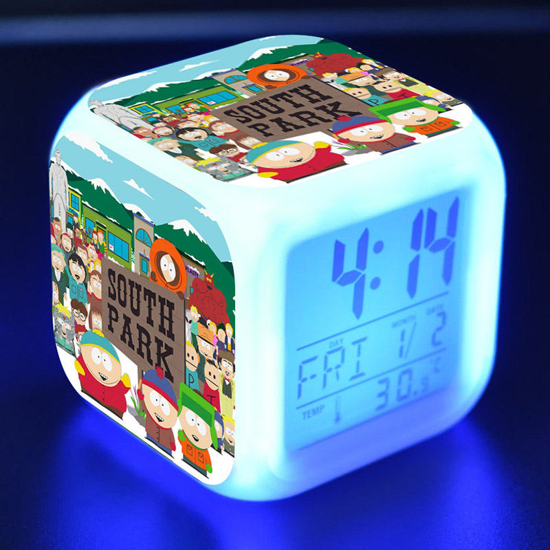 Back To Search Resultstoys & Hobbies South Park Anime Figure Juguetes Led Alarm Clock Colorful Touch Light Southpark Figma Kids Toys Carefully Selected Materials