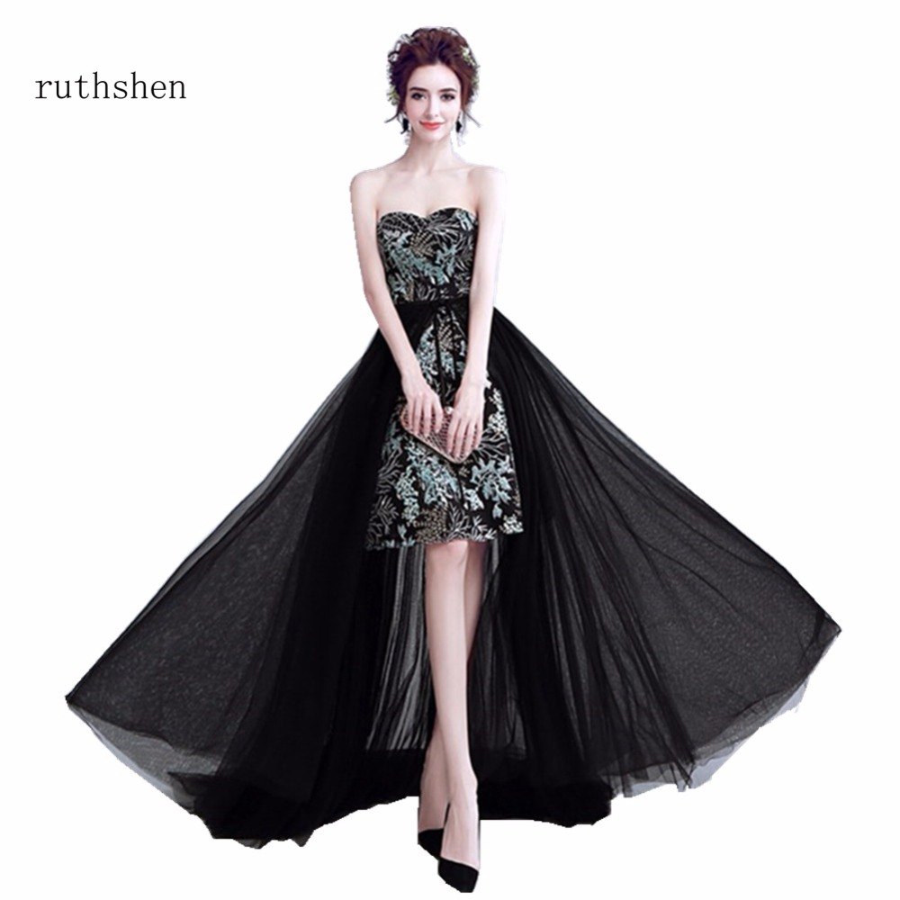 Discount Evening Dress: Ruthshen Sexy High Low Prom Dresses Cheap Strapless