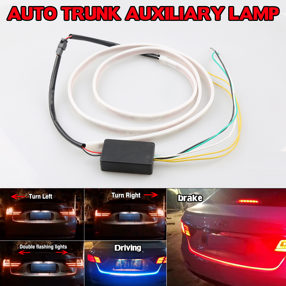 New Car SUV Integrated LED 49 Tail Brake Stop Turn Signal Day Time Running Light DRL