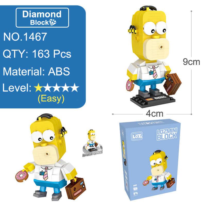 Loz os simpsons figura anime modelo estatuetas em miniatura blocos brinquedos filmes dos desenhos animados presente para meninas mulheres amigos