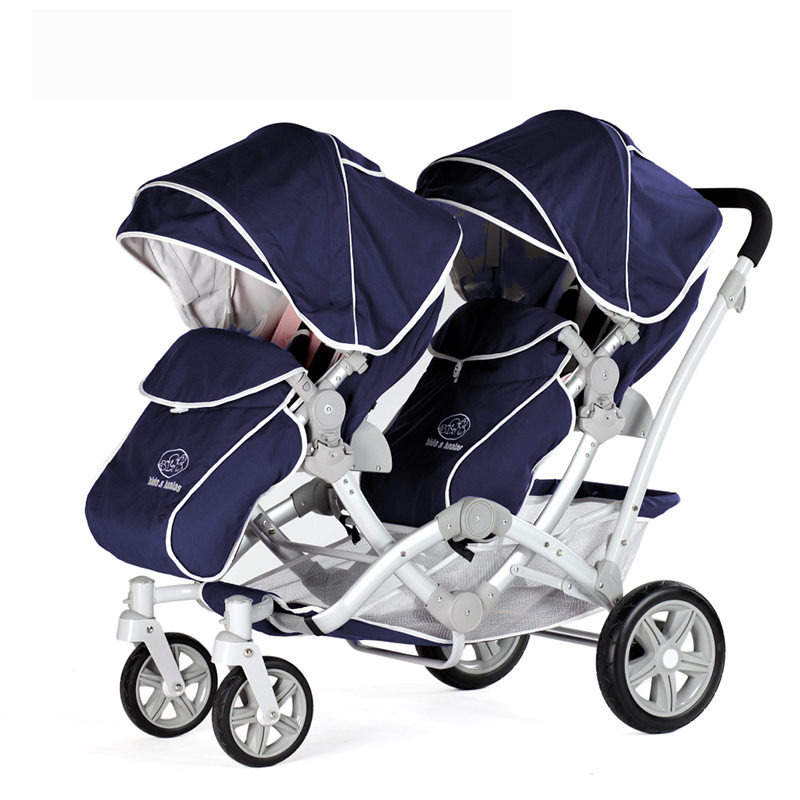 Fashion Folding Baby Stroller for Twins Highview Twins Stroller Pushchair for Two Children, 2 Seats Baby Carriage цены онлайн