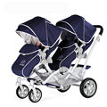 Moda Folding Carrinho de Bebê para Gêmeos Gêmeos Carrinho De Criança Carrinho de Bebé Highview para Duas Crianças, 2 Assentos Carrinho de Bebê