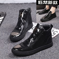 Summer version of the trend of  leather shoes and boots Duantong Martin boots   wild high-top boots tide  shoes