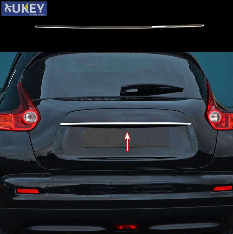 For Nissan Juke 2011 2017 Tail Gate Cover Trim Chrome Rear