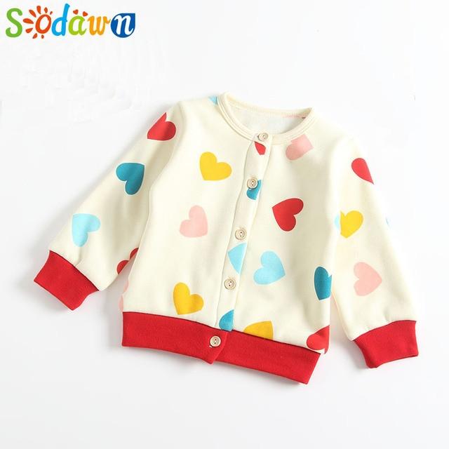 ae581deb3b025 Sodawn Autumn Winter Baby Jacket Baby Boys Girls Plus Velvet Cartoon  Pattern Long-Sleeved Clothes Jacket 6-24M Baby Clothing