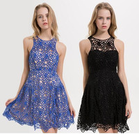 Women dresses 2018 new style Lace Cotton party dress with perfect shaped, Casual dress for day and night, Plus size,