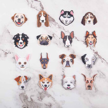 Many Dog Heads Patch Embroidered Patches For Clothing Iron On For Close Shoes Bags Badges Embroidery food vegetable patch embroidered patches for clothing iron on for close shoes bags badges embroidery