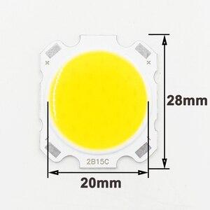 Image 3 - 10pcs LED COB 10W cree שבב גודל 28mm 20mm קר/חם לבן Fit עבור COB led DIY שבב cree LED הארה זרקור
