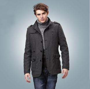 Men's coats and jackets large leather overcoat wool & blends ...