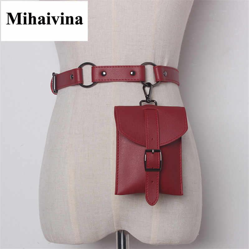 Mihaivina 女性のバッグ高品質革ウエストバッグポーチファニーパック財布ホルダー女性ヴィンテージベルトバッグ