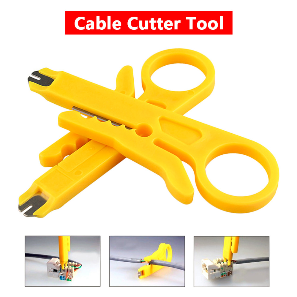 Stripper Cable Cutter 9cm UTP Cable Cutter Wire Tool Network Cable Wire Pliers Stripper Rotary Punch Down Tool high quality mk bxq 80b cable wire stripper cutter tool wire pliers clamp china