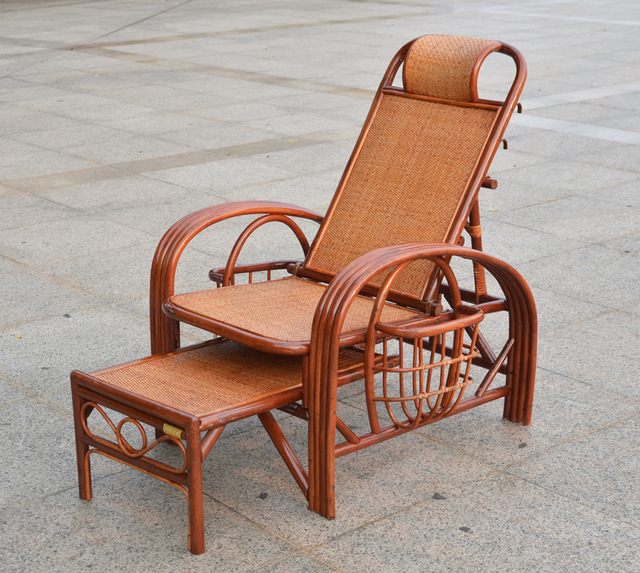 Rattan couch rattan recliner couches folding chairs beach chair siesta Happy old wicker leisure & Rattan couch rattan recliner couches folding chairs beach chair ...
