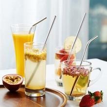 50Pcs נירוסטה שתיית קש תה מסנן זוג ירבה תה קשיות ומביליה דלעת לשימוש חוזר תה כלים רחיץ בר אבזרים
