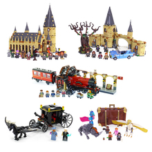 lepin Harry Movie Potter Legoingly Hogwarts 16052 16054 Great Hall Fantastic Beasts 75953 75954 Castle Hall Christmas Gifts(China)