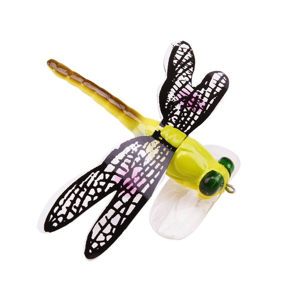 Insect Lure Hook Bait Floating Dragonfly Fly-Fishing-Flies Cockroach -Yl10 70mm Hairy