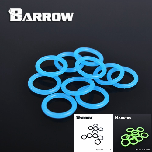 Barrow G1 / 4 Universal water cooling Luminescent  Blue silicone Seal O-ring 10pcs/ set water cooler PC accessories смесители blue water в киеве