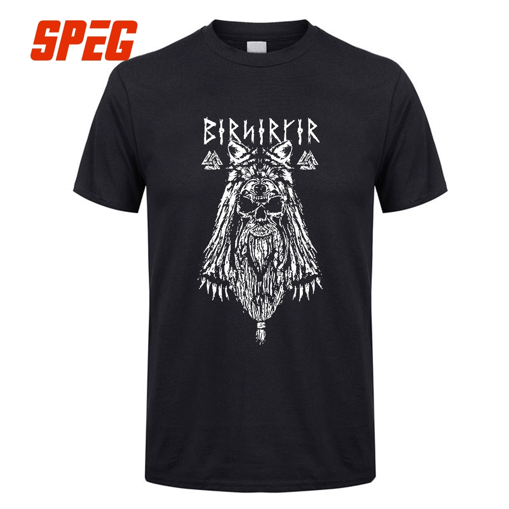 Viking Berserker Stylish T Shirts Men's Round Neck Short Sleeve Clothes New Vintage Cotton Adult Tshirt Sales Tees Vikings Odin
