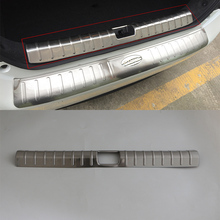 For HONDA CIVIC 2017 Car body Kits Car styling Accessories Stainless Steel Rear Bumper Plate Pedal Car Sticker 1PCS car body kits plastic rear bumper foot plate car sticker for toyota vios 2017