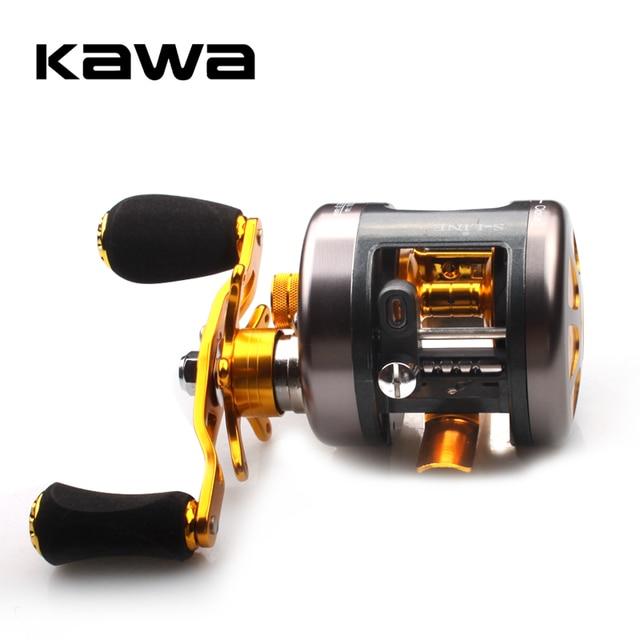 KAWA New Fishing Reel Cast Drum Wheel Bait Casting Reel Max Drag 4.5kg 9+1 Bearings Aluminum Alloy Spool Sea Fishing Reel