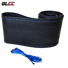 Car Steering Wheel Cover Microfiber Perforated Leather Handlebar Braid Steering-Wheel Covers fit for 36cm 38cm 40cm Diameter