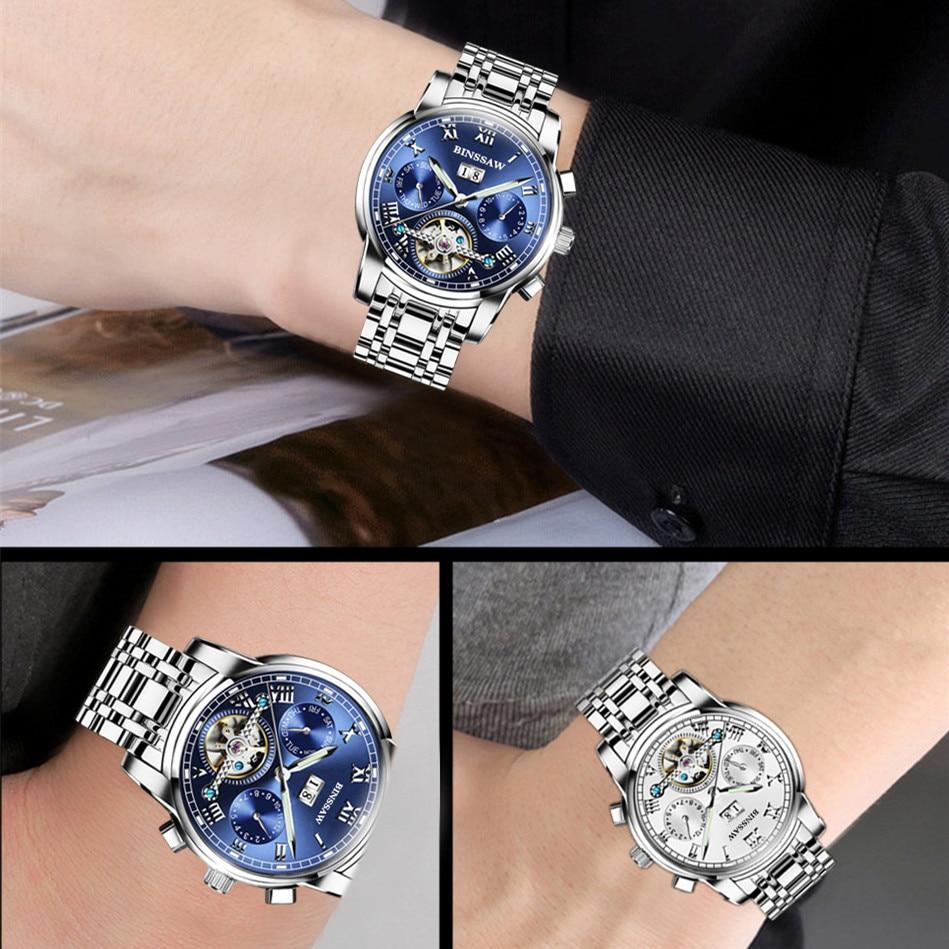 Zegarki męskie Binssaw Casual Business Mechaniczne zegarki na rękę - Męskie zegarki - Zdjęcie 5