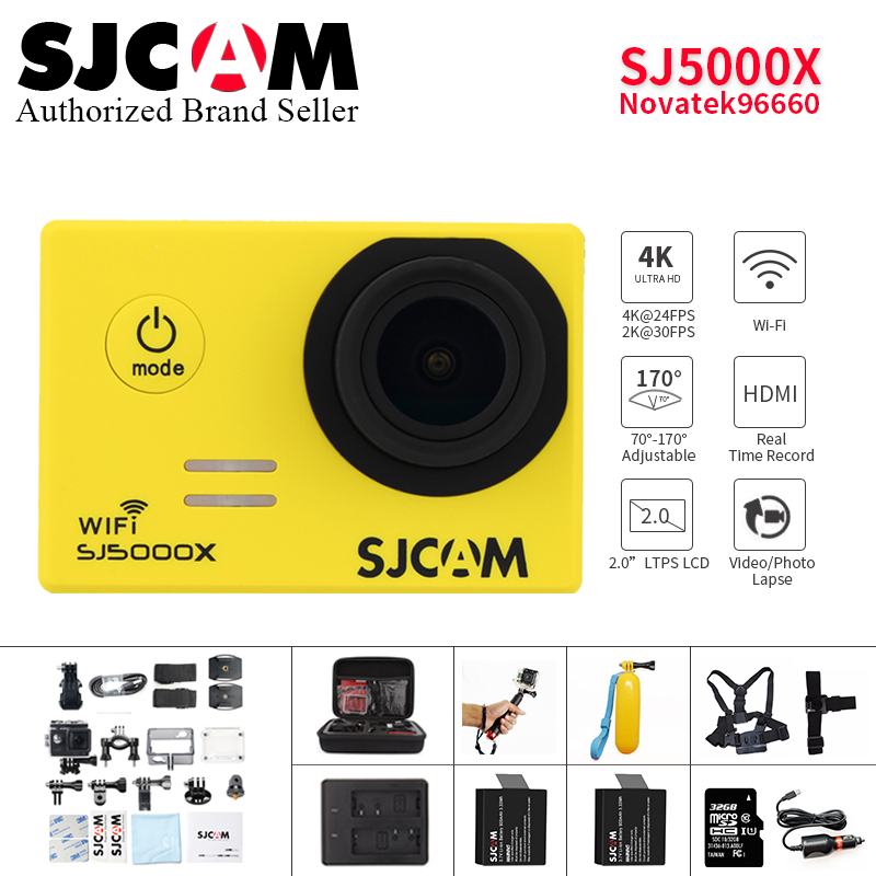 Original SJCAM SJ5000X Elite 4K WiFi action camera 12MP 1080P FULL HD Sports DV Diving 30m Waterproof mini camcorder helmet Cam