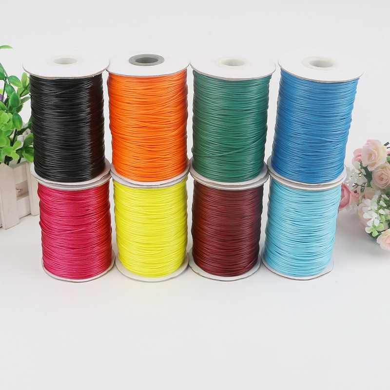 1mm 1.5mm 2mm Waxed Cotton Cord Waxed Thread Cord String Strap Necklace Rope Bead For Jewelry Making DIY Bracelet