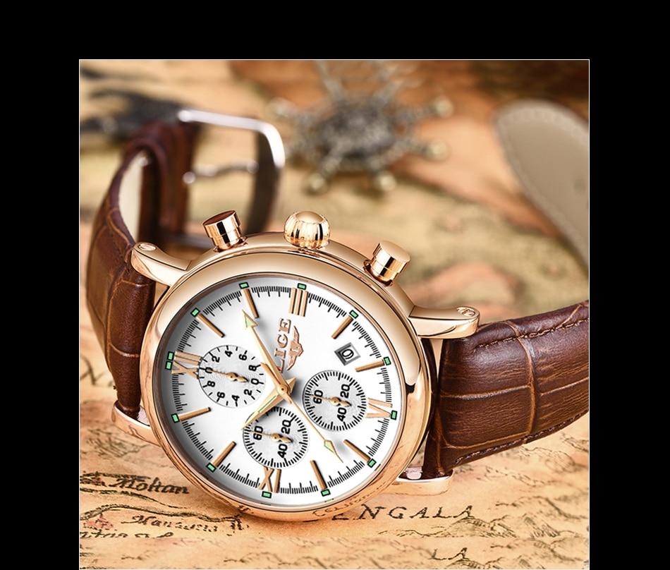 HTB1CGJaa4D1gK0jSZFyq6AiOVXa7 2019 LIGE Business Leather Fashion Waterproof Quartz Watch For Mens Watches Top Brand Luxury Male Date Clock Relogio Masculino