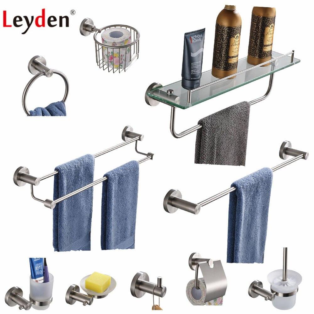 Nickel brossé Salle de bain Hardware Set Porte-serviettes anneau crochet papier toilette titulaire