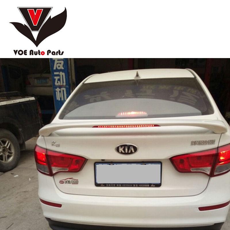 2012-2015 K2/RIO ABS Plastic Unpainted Car Styling Spoiler+Light For KIA K2/RIO