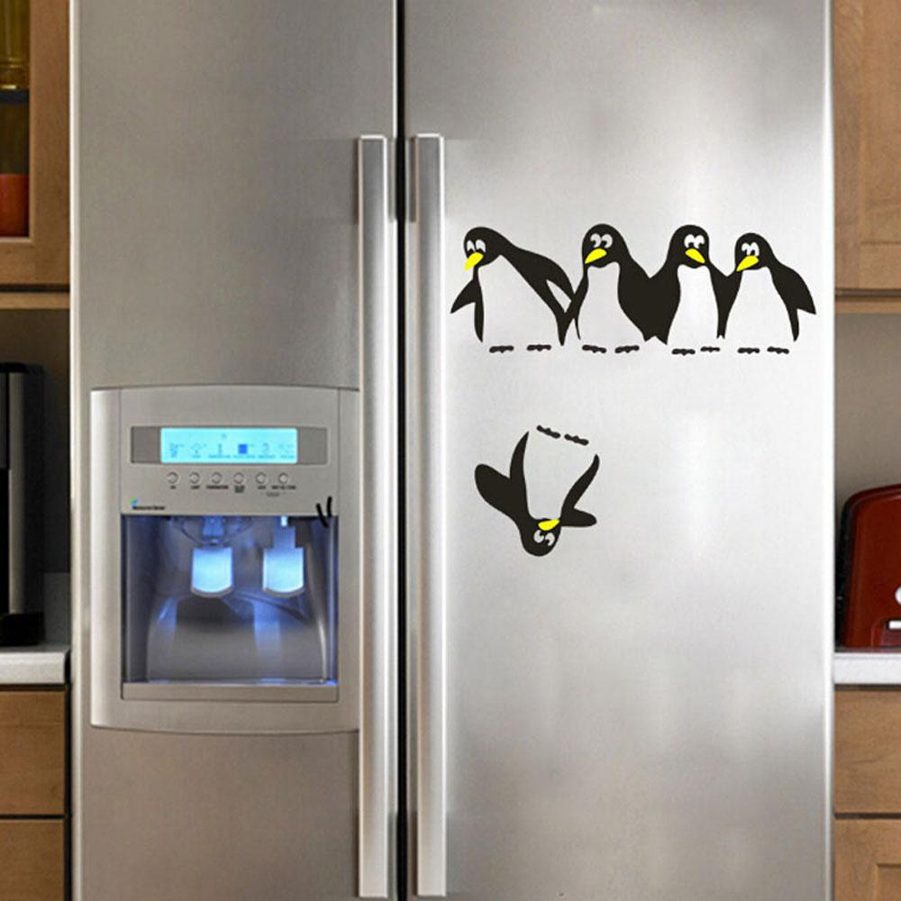 HTB1CGJkQpXXXXbEapXXq6xXFXXXA - 1PC Funny Penguin Kitchen Fridge Sticker