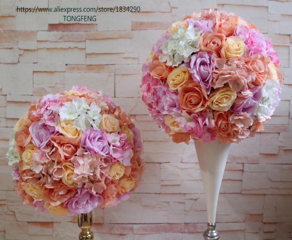 40cm Wedding Flower Wall Decoration Artificial Silk Rose 2