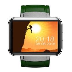 2.2 pouces IPS montre intelligente téléphone DM98 Android 4.4 OS MTK6572 Bluetooth Smartwatch Fitness Tracker Nano SIM Wifi fréquence cardiaque GPS