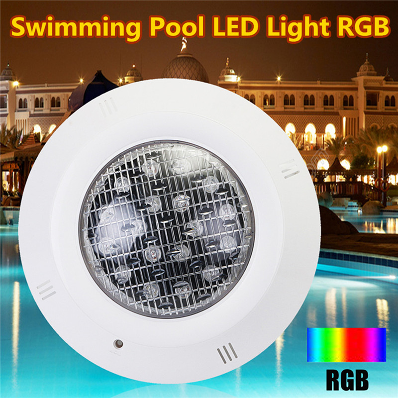 18W LED Swimming Pool RGB Light Underwater Lights 7 Colors IP68 Waterproof AC 12V + Remote Controller 10pcs outdoor underwater rgb led pool light led piscina flood spot light lamp 12v10w ip68 24key ir remote swimming pool party