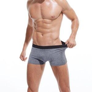 Image 5 - 4ピース/ロットskyhero男性パンティーコットンメンズ下着ボクサー通気性の男性ボクサー固体パンツ快適なブランドショーツjdren