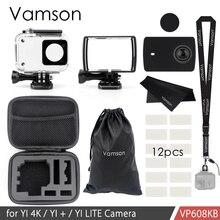 Vamson için Yi 4 k/yi 4k +/yi lite 40m su geçirmez kılıf koruyucu muhafaza durumda dalış xiaomi Yi 2 4K spor kamera 2 VP608K