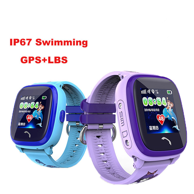 IP67 Waterproof 2018 New GPS Baby Watch Phone DF25 SOS Call Location Kids Smart Watch Clock Anti-Lost Monitor Pk Q50 Q90 Q100 все цены