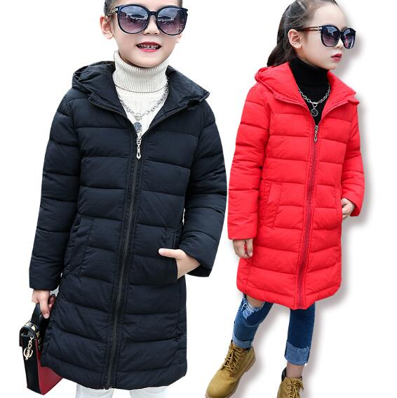 Children Girls Winter jacket Outerwear 2018 Fashion Warm Hooded Coat Teenager Girls Down Cotton Kids Parkas Girls Winter Clothes 5 14 years winter jacket for girls fashion children hooded down cotton girls parka kids winter outerwear coat girls warm clothes